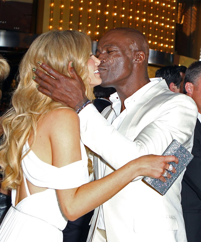 Sealed with a kiss! The pair, pictured at the 2012 Logie Awards, have long been romantically linked.