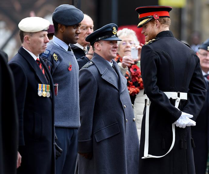 The former military man chatted to the attendees with a noticeable spring in his step.