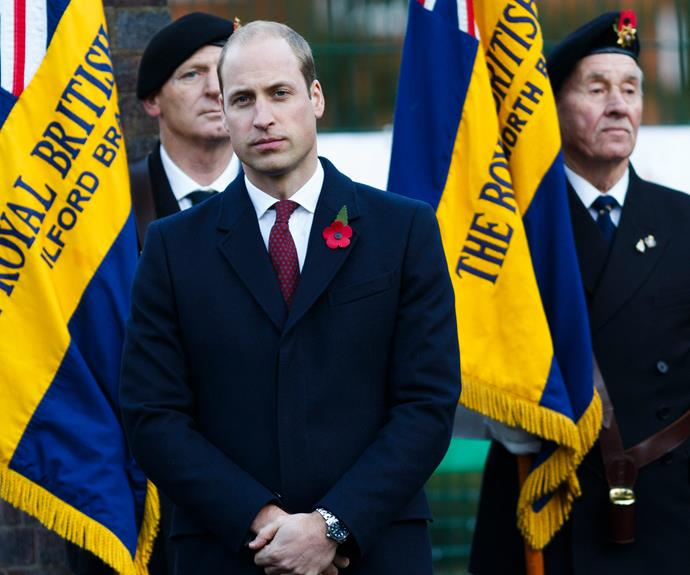 Meanwhile big bro, Prince William, joined the pupils from St Charles Roman Catholic Primary School in Kensington, for a Remembrance event.