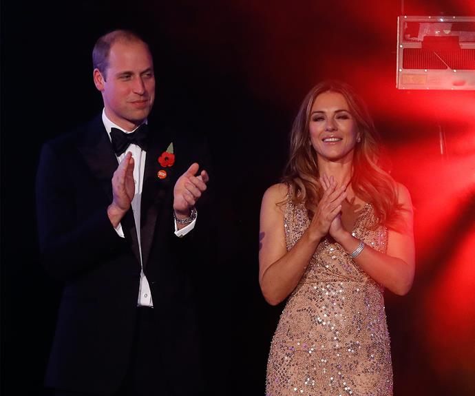 Later that evening, the Duke was the guest of honour tonight at a glittering fundraiser for the youth homeless charity Centrepoint. Other guests included Phil Collins, Craig David and Liz Hurley.