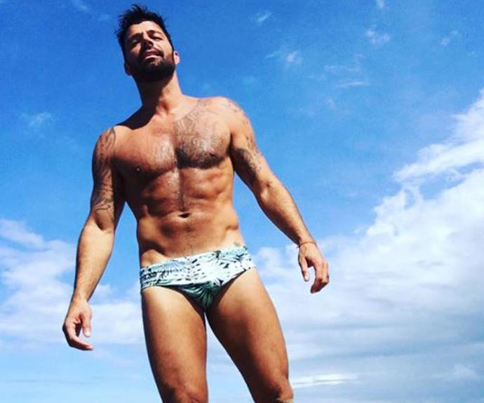Summer looks abs-olutely sizzling for Ricky Martin! The father-of-two posted this bronzed, beach-side shot and we're just a tad jealous of his stunning surroundings.