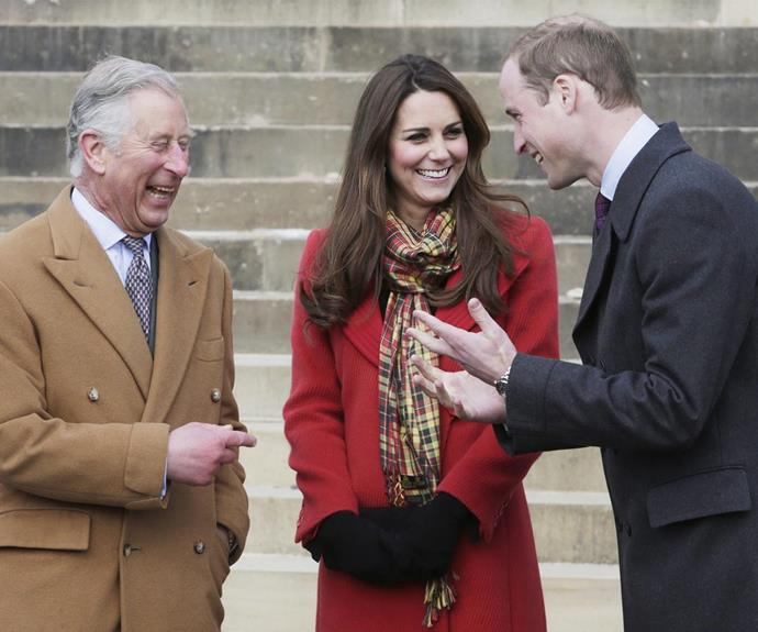 Looks like Wills inherited his dad's sense of humour - and Kate loves it!