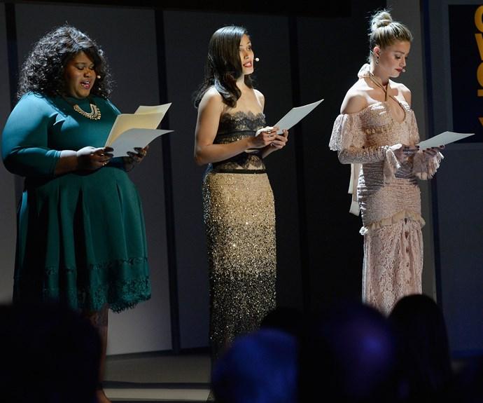 Gabourey, Freida and Amber deliver Emily Doe's heartbreaking essay.