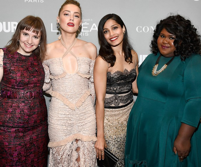 Prior to Amber, Freida and Gabourey's reading, Lena Dunham also took to the stage to express how deeply moved she was by Emily's essay.