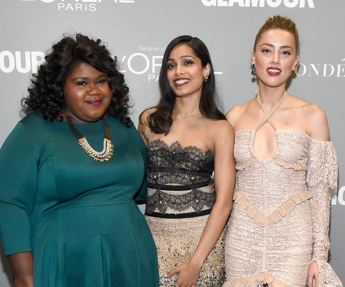 The three actresses were among a slew of celebrities who took out top gongs at *Glamour*'s Women of the Year awards.