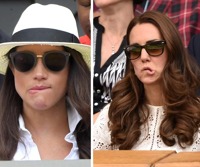 Reacting to the tennis in the EXACT same way...