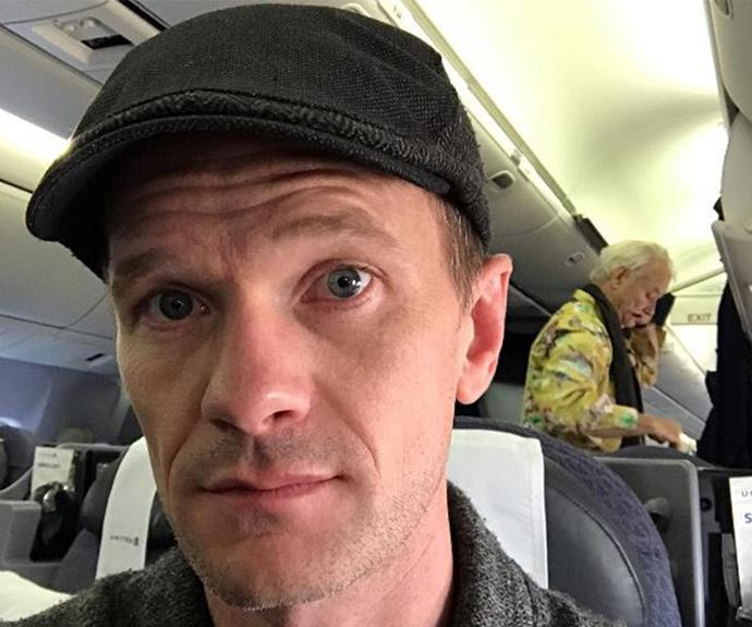 """""""Bill Murray was on my flight home from Berlin, so that was cool. He's their GQ Man of the Year, and had perfectly lovely small talk. #respect,"""" actor Neil Patrick Harris penned next to this incredible selfie."""