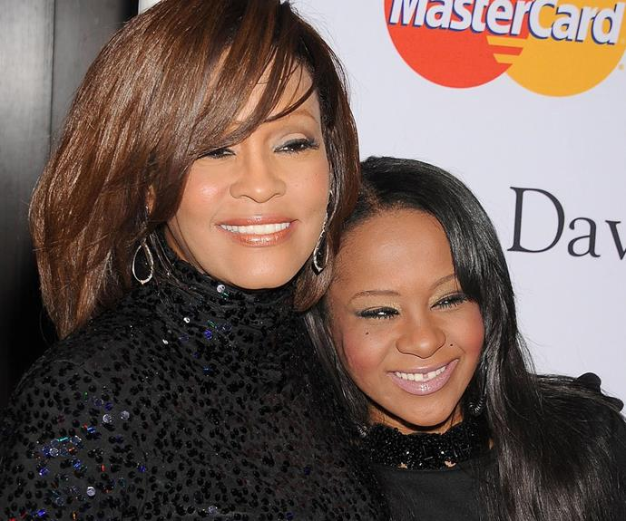 Bobbi with her beloved mum, the late Whitney Houston.