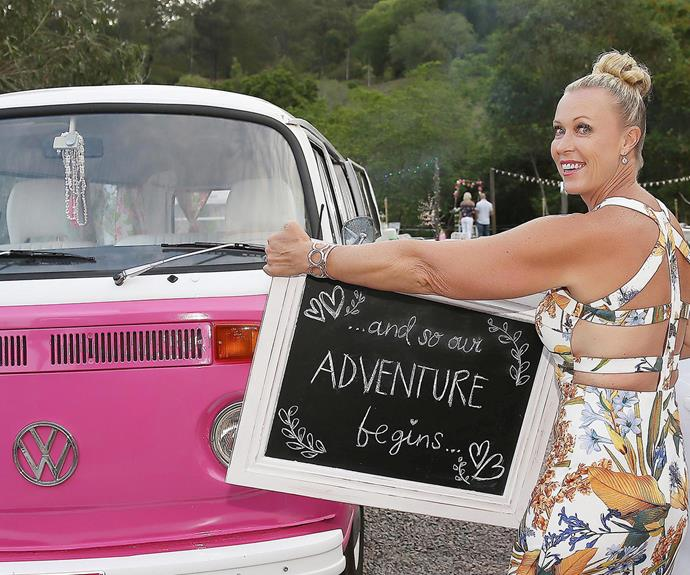 Lisa's pink Kombi got an outing!