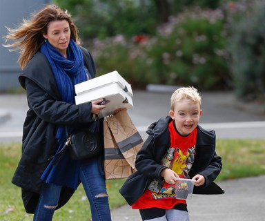 Catch me if you can! Dannii Minogue steps out with her son Ethan