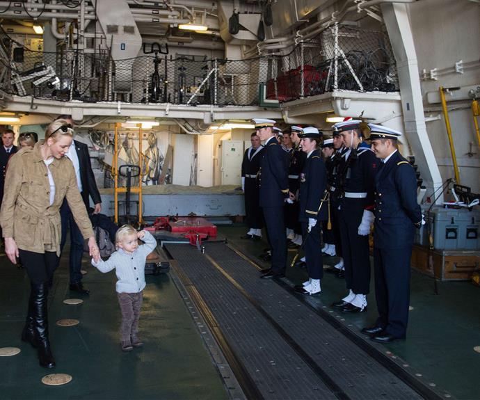 A royal salute from Prince Jacques! (Pic via/Palaismonaco Facebook)