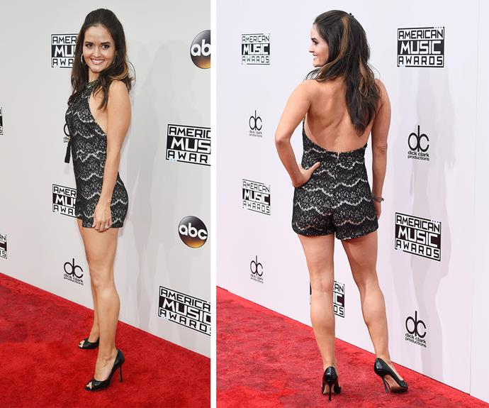 *The Wonder Years* actress Danica McKellar gives us legs for days.