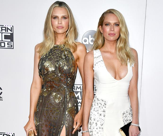 Supporting their former step-sister were Erin and Sara Foster.