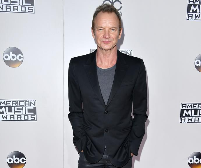 Man of the moment: Sting is this year's recipient of The American Music Award of Merit.