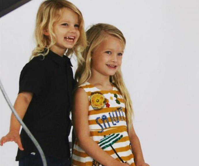 "Wow! How adorable are Jessica Simpson and Eric Thompson's kids? Proud mum Jess posted this pic of son Ace, three, and daughter Maxwell, four, posting together for their school photos. ""Behind the scenes of school pictures...seriously?!?!?Thank you God for these precious kiddos,"" the singer penned."