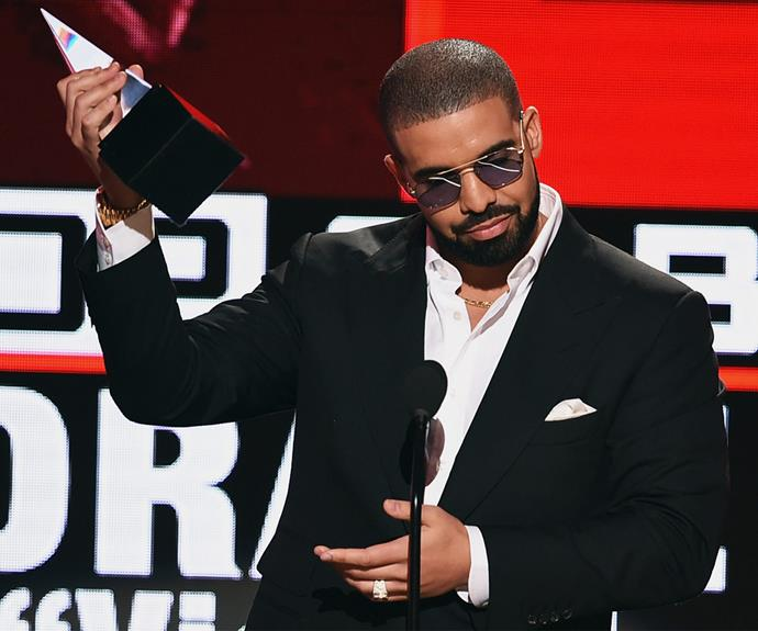 Drake takes home his very first AMA for best rap/hip-hop album for his best-selling *Views*.