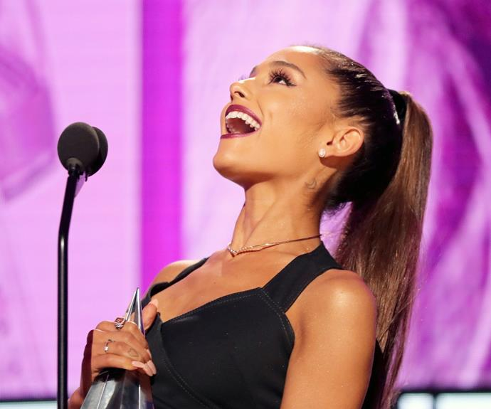 Ariana Grande got the biggest honor of the night when she was announced as 2016's Artist of the Year.