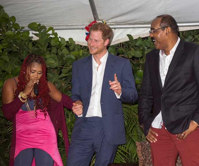 """""""I understand that there may be a new addition to the royal family very soon. I am told that there may be a princess and I just want to say that should you make the decision to honeymoon - then Antigua and Barbuda want to welcome you."""""""