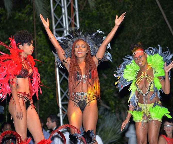 Antigua put on a show for the Prince.