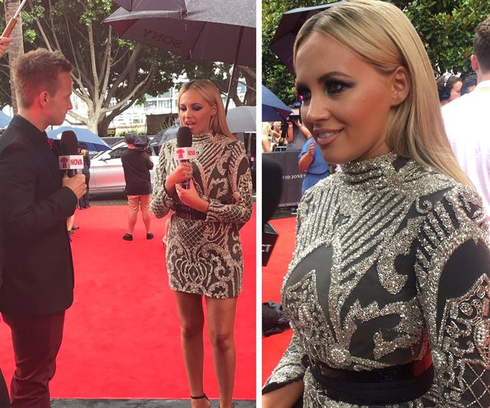 The bubbly star confessed she had her dress made the night before the ARIAs.
