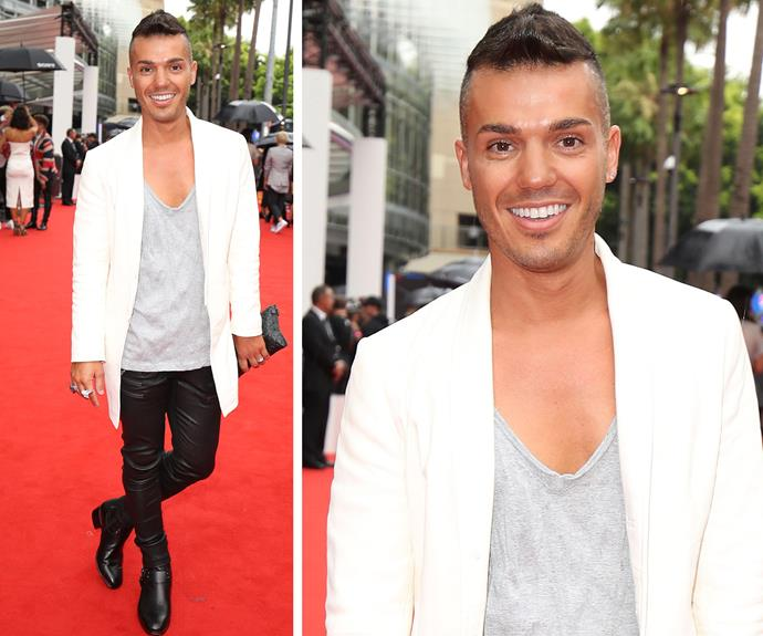 "Anthony Callea is in the house! Dressed in leather trousers, he confessed he was ""sweating bullets."""