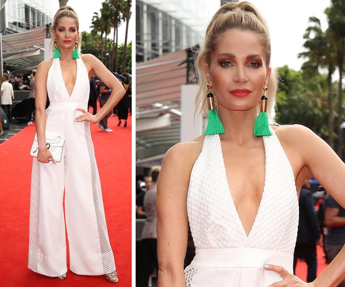 Former *X Factor* star Natalie Conway knows how to make an entrance.