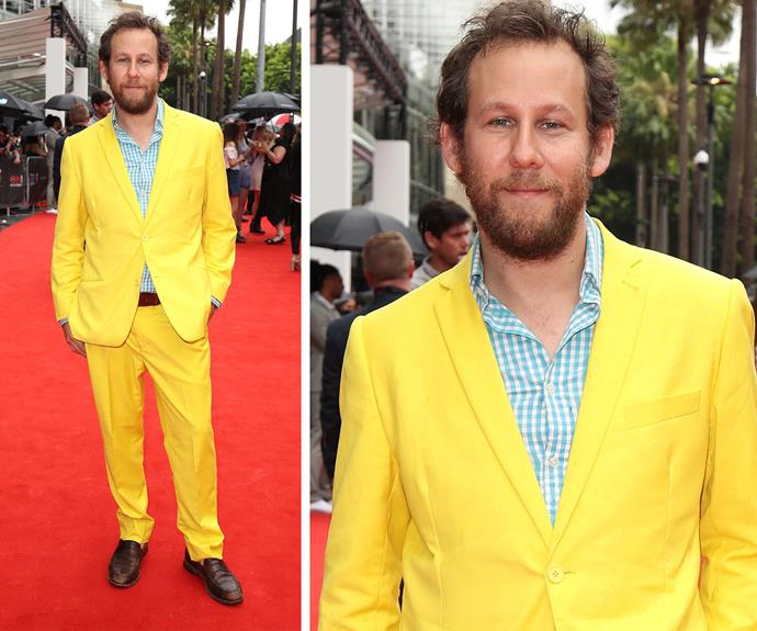 Packing a punch in a bright yellow suit, Ben Lee brought all the sunshine on an otherwise wet day!