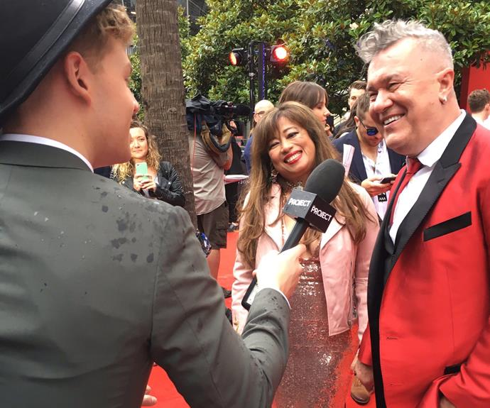 The legend that is Jimmy Barnes! The star walked the red carpet with his beloved wife, Jane Mahoney.