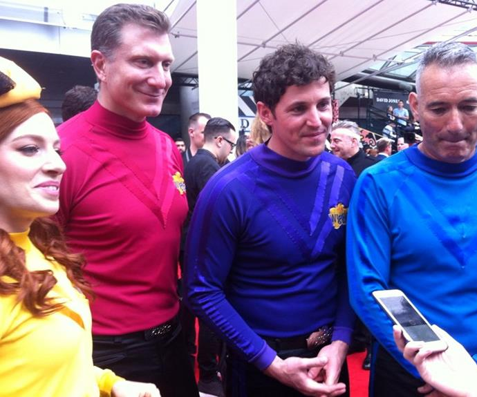 The Wiggles and their famous jumpers.