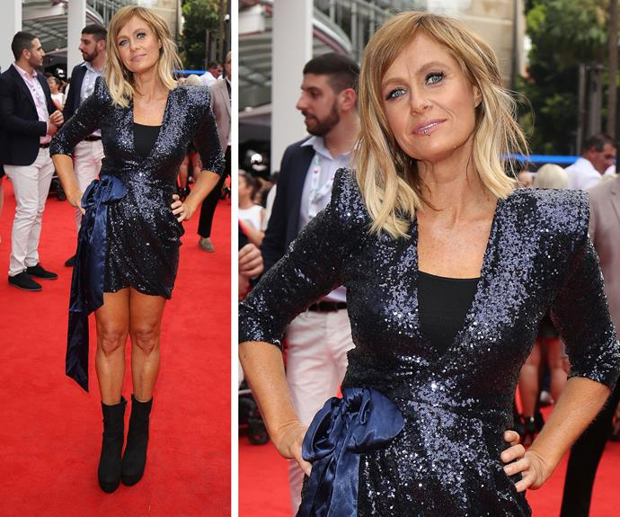 Kasey Chambers opted for a glittering navy dress.