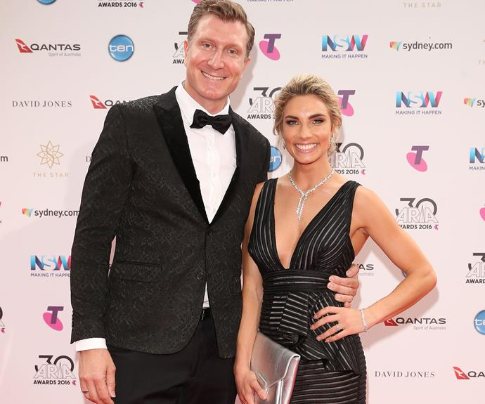 A very Wiggly romance! Simon Wiggle stepped out with his fiance, Lauren Hannaford.