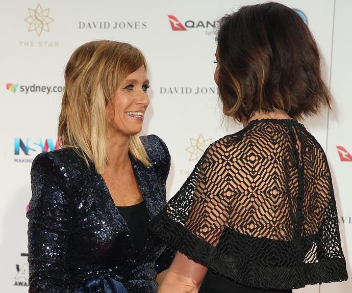Old friends reunited! Missy Higgins and Kasey Chambers catch up.
