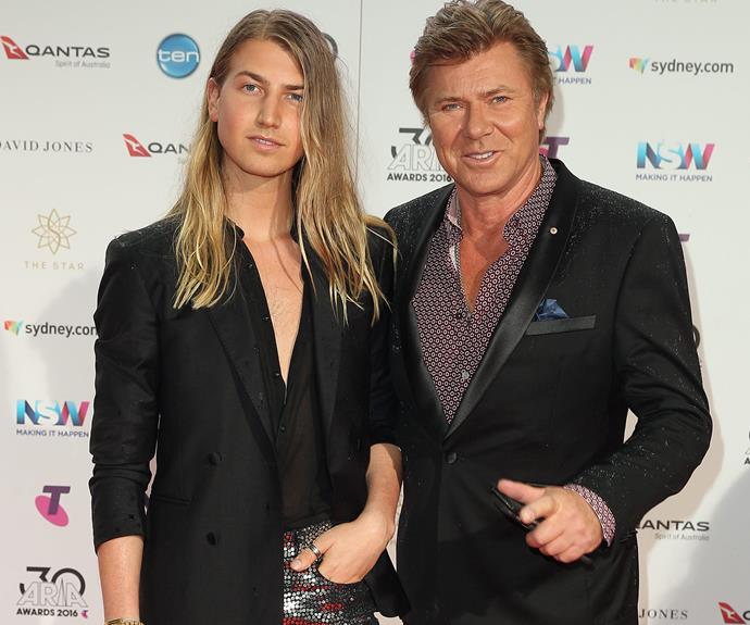 Proud dad Richard Wilkins with his son Christian.