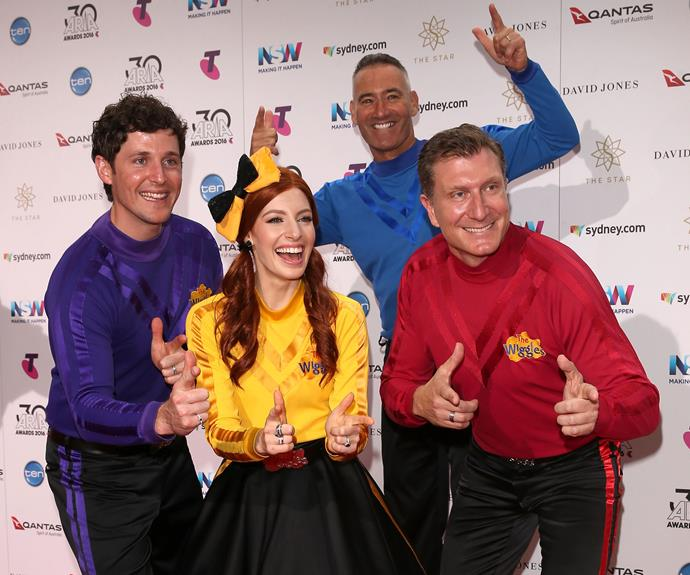 Do a little dance for The Wiggles! This is Blue Wiggle Greg's 21st ARIAs!