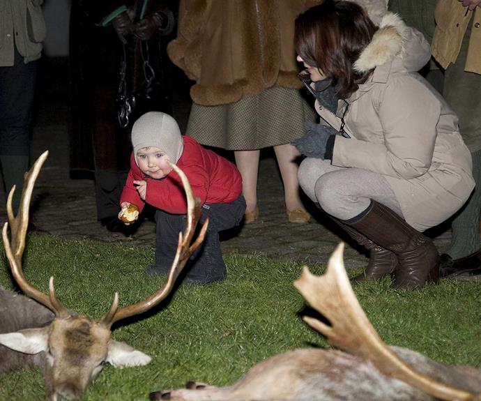 Christian was just two years old when he joined his parents at the 2007 hunt.