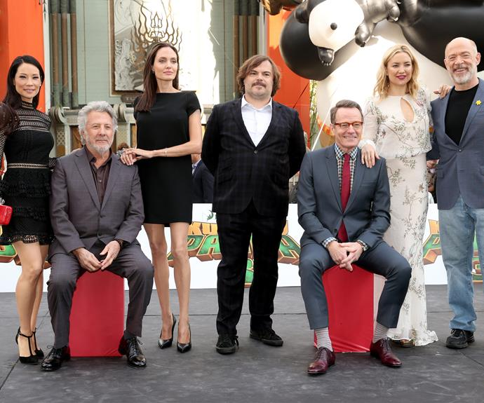 Brad's ex-wife worked with Kate Hudson for the third installment of *Kung Fu Panda*.