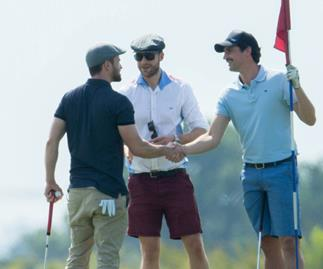 Justin Timberlake, Hamish Blake and Andy Lee