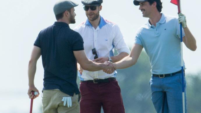 Justin Timberlake, Hamish Blake and Andy Lee