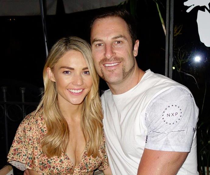 """And proud partner Sam Frost loves her man's rugged look. """"Check out that sexy mo! Sash a week into Movember & he is off to a strong start!!,"""" she captioned beside this sweet snap."""