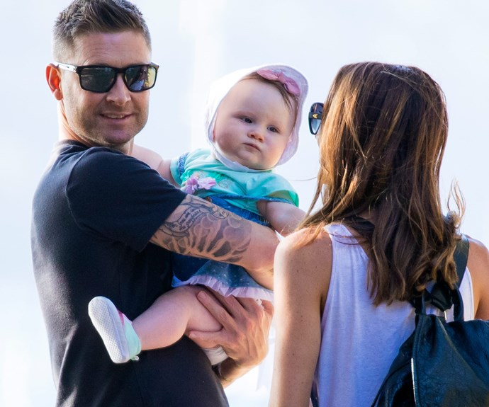 Former Aussie cricket captain Michael and wife Kyly celebrated their little girl's milestone.