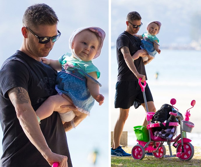 Their little cutie took a spin on her cool new trike.