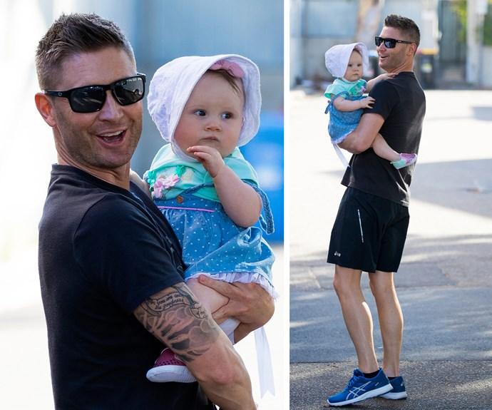 Doting dad Michael adores his daughter.