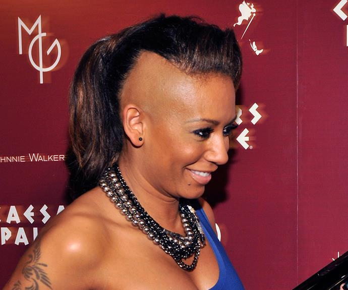 We've got one word to describe Mel B's half-shaved look from 2010: *brave*.