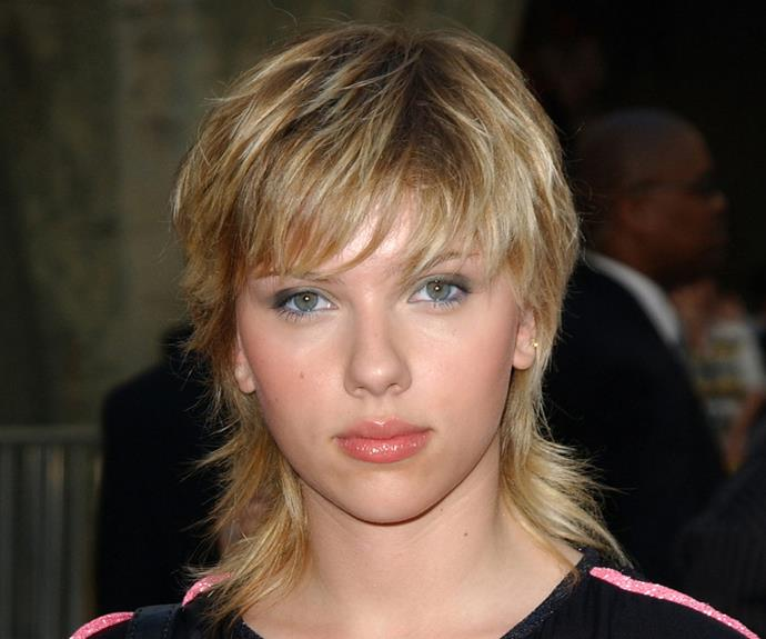 Scarlett Johansson's 2003 mullet is all business in the front and party in the back.