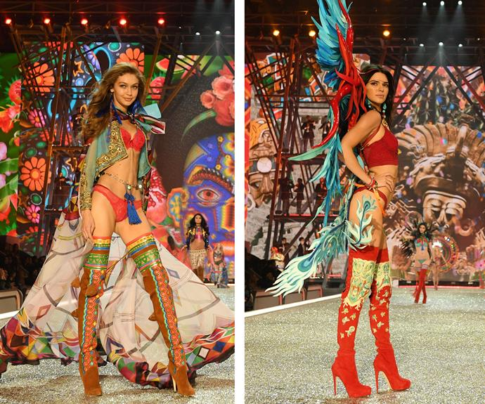 Besties Kendall and Gigi bring on the psychedelic vibes with these oh-so-cool combos.