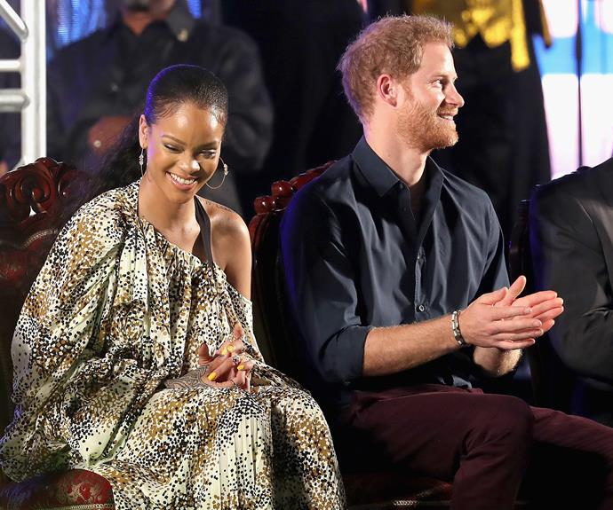 Rihanna and Harry have blast as they celebrate the island's 50th anniversary of independence.