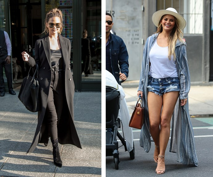 Chrissy Teigen's casual, beachy look, paired with that big smile, proves science's theory that vitamin D boosts your mood.
