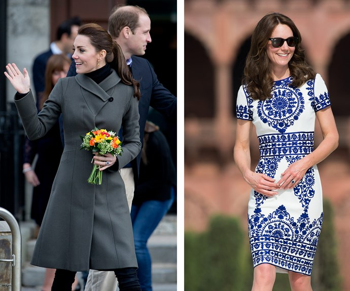 Duchess Catherine's stylist amps up the colour for the royal's summer outings.