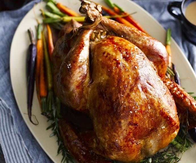 "Try this [roast turkey with toasted almond stuffing](http://www.foodtolove.com.au/recipes/roast-turkey-with-toasted-almond-stuffing-15070|target=""_blank""