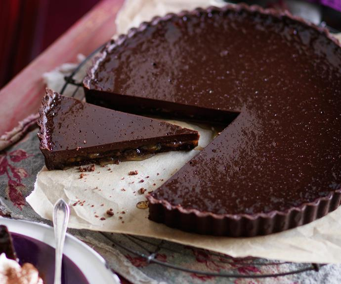 "Fight tummy cramps with a hit of magnesium, found in this rich [dark chocolate and marmalade tart.](http://www.foodtolove.com.au/recipes/julie-goodwins-dark-chocolate-and-marmalade-tart-27263|target=""_blank""